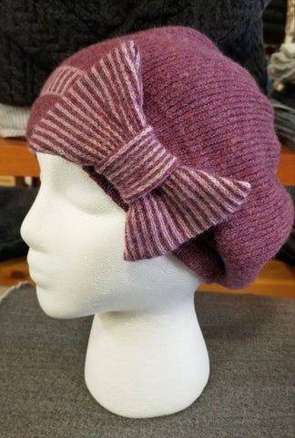 Bow Hat - Rose