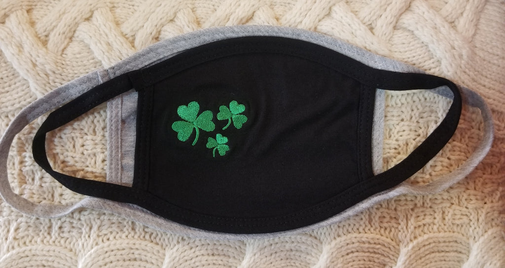 NEW Youth Size - Shamrock Face Mask