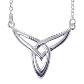 Trinity Knot Necklet - Sterling Silver