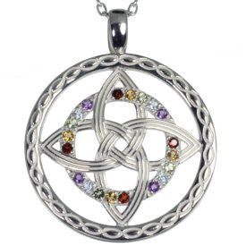Celtic Colors Knot Pendant