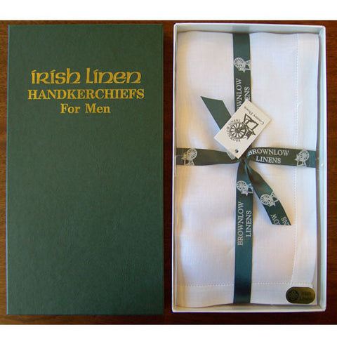 Irish Linen Gents Handkerchief