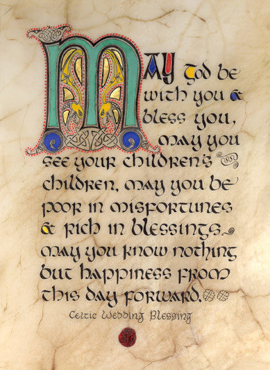 Irish Wedding Blessing Framed Print The Counties Of Ireland