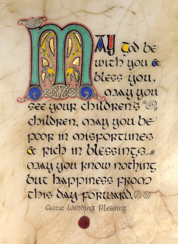 Irish Wedding Blessing Framed Print