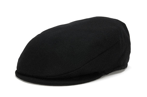 Black Wool Flatcap