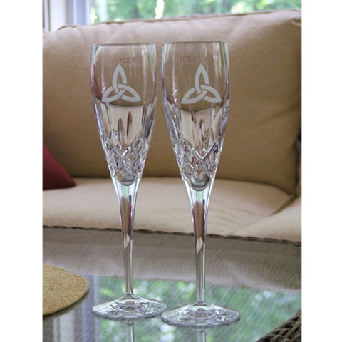 Trinity Knot Champagne Flutes