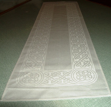 "Colmcille White Irish Linen Table Runner - 12""x45"""
