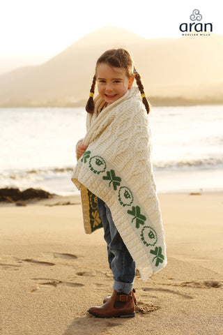 Shamrock & Sheep Baby Throw