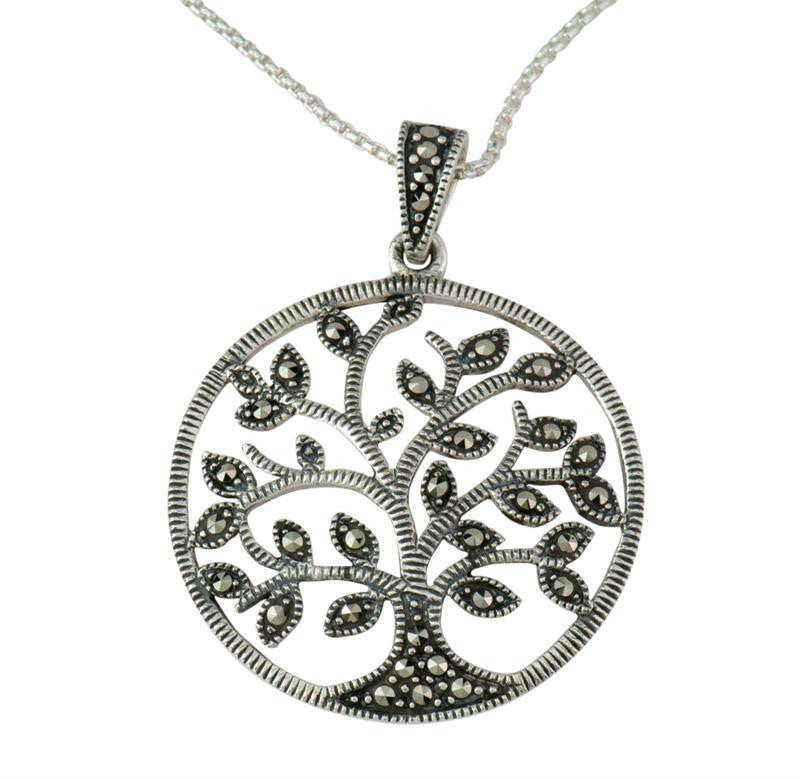 Marcasite Tree of Life Pendant (Small)