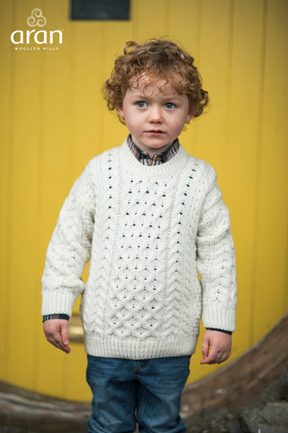 Child's Aran Pullover (2 Colors Available)