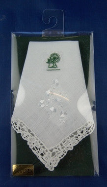 Ladies Shamrock Sprig Hankerchief