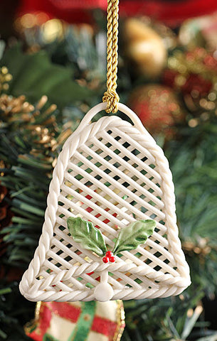Holly Basket Bell Ornament