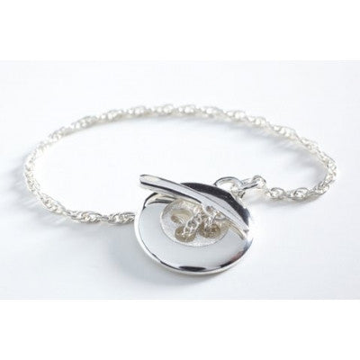 Button Memory Necklace - Silver
