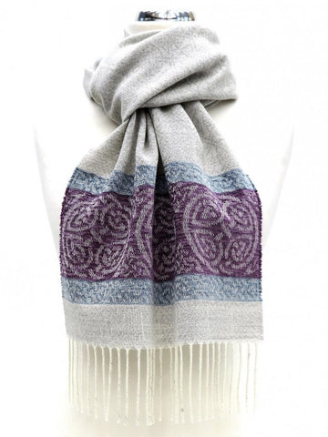 Celtic Border Scarf -Arctic Grey