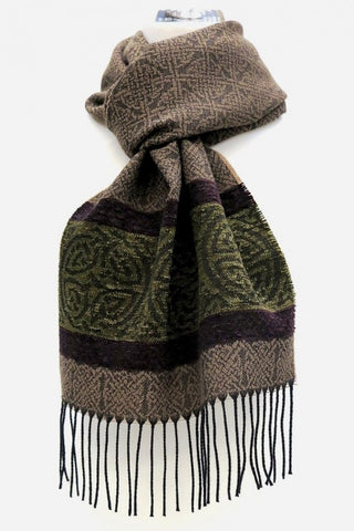 Celtic Border Scarf - Nordic Forest
