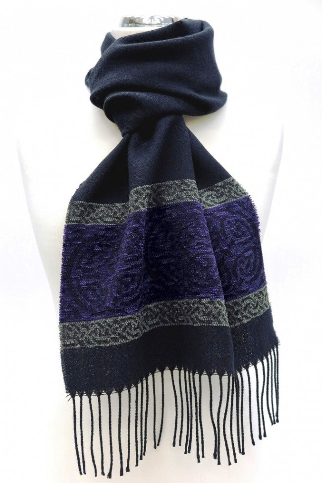 Celtic Border Scarf - Nordic Midnight
