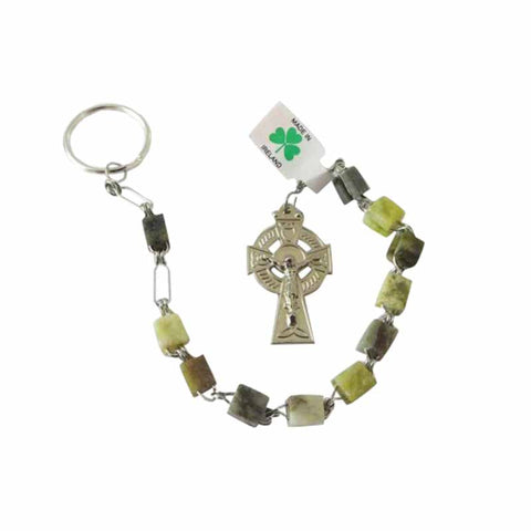 Connemara Marble Rosary Key Chain