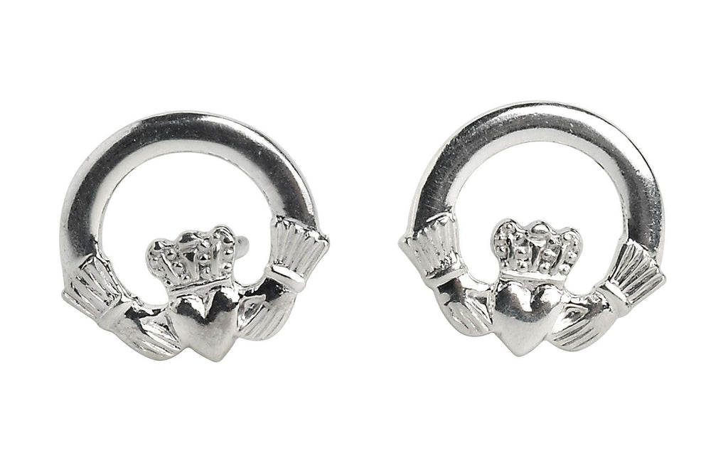 Claddagh Post Earrings