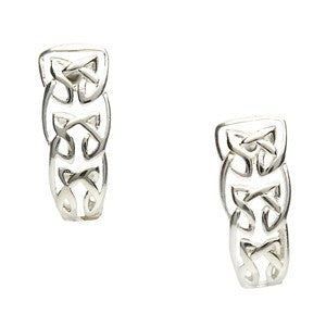 Celtic Knot Half Hoop Earrings