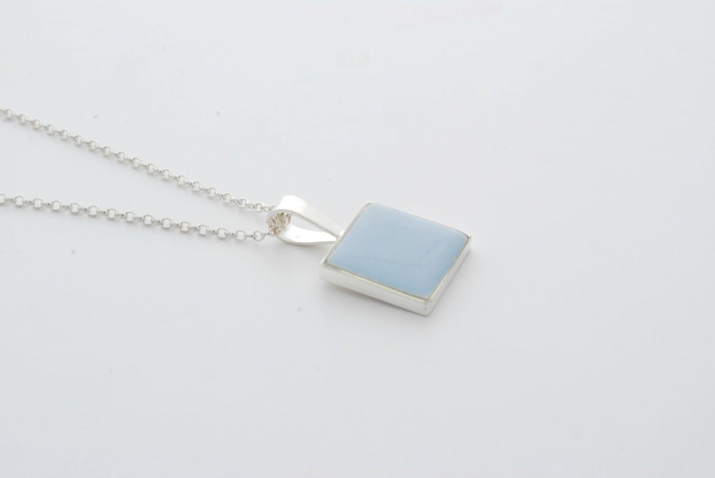 Royal Doulton Blue Square Pendant