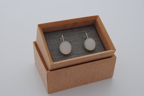 Opal China Round Earrings