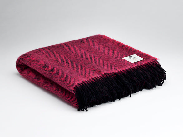Fuchsia Herringbone Throw