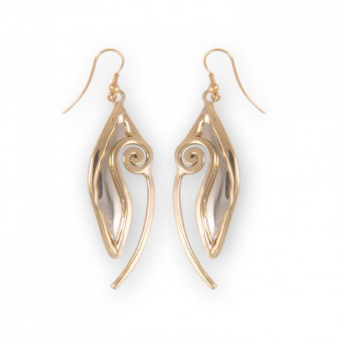 Celtic Spiral Open Oval Drop Earrings (2 Colors)
