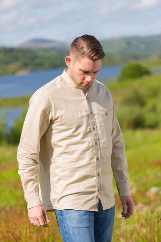 Irish Linen Grandfather Shirt