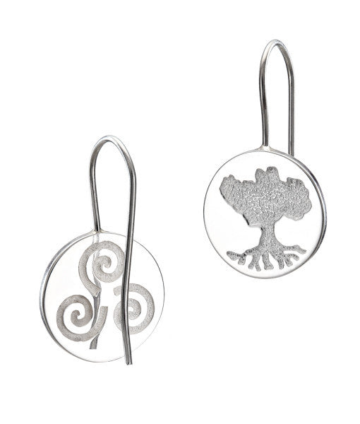 "Tree of Life ""Growing Home"" Solid Earrings"