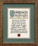 Grandparents House Rules Framed Print