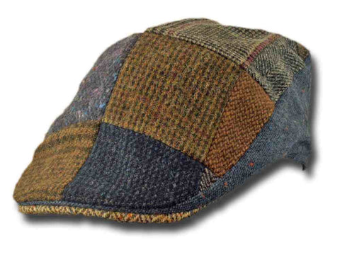 Patchwork Brown Tweed Touring Cap