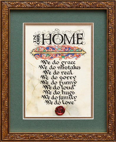 In Our Home Framed Print