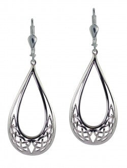 Pear Shaped Celtic Knot Earrings
