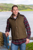 Kerry Irish Tweed Vest - Moss Check