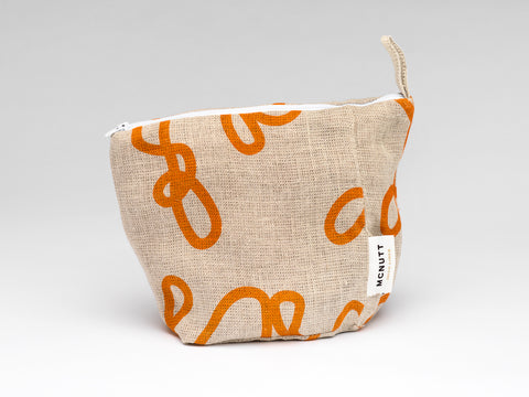 Irish Linen Makeup Bag - Yarn - Clearance