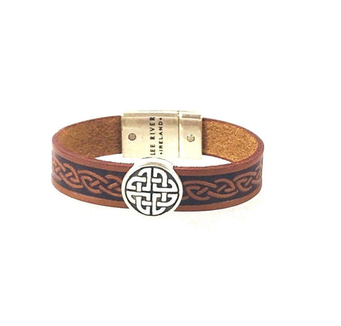Celtic Knot Leather Celtic Cuff (2 Colors)