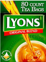 Lyons Original Blend Tea - 80ct