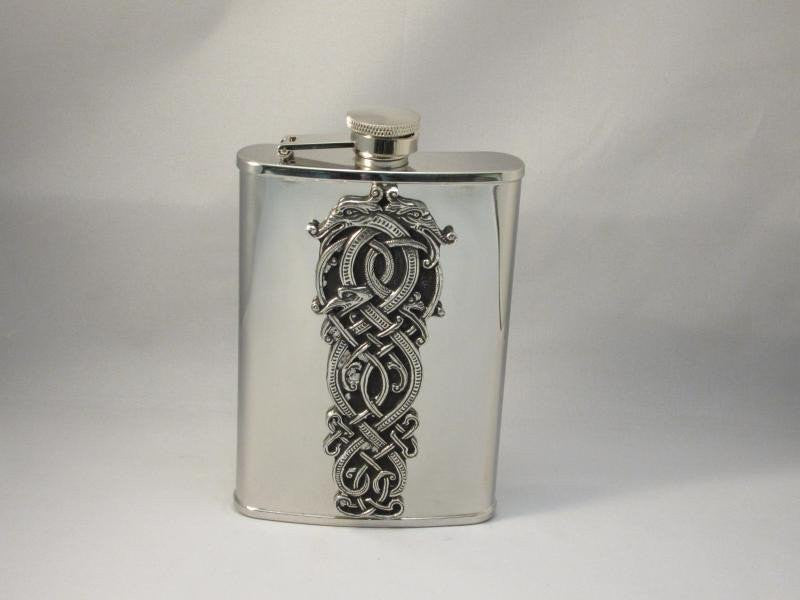 Celtic Dragon Flask