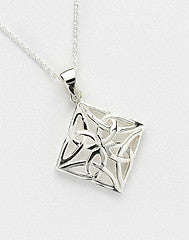 4-Sided Trinity Pendant - Sterling Silver