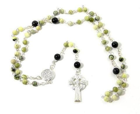 Connemara Marble Celtic Rosary