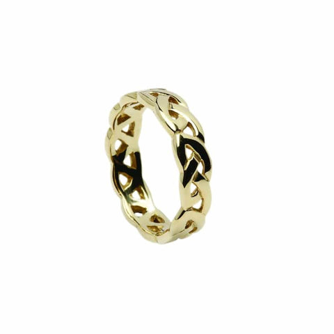 Open Celtic Knot Wedding Band - Yellow or White Gold Available