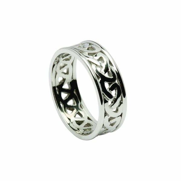 Open Celtic Knot Wedding Band Two Tone The Counties Of