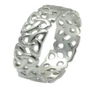 Trinity Knot Ring - Sterling Silver