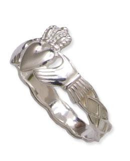 Claddagh & Celtic Knot Ring - Ladies - Sterling Silver