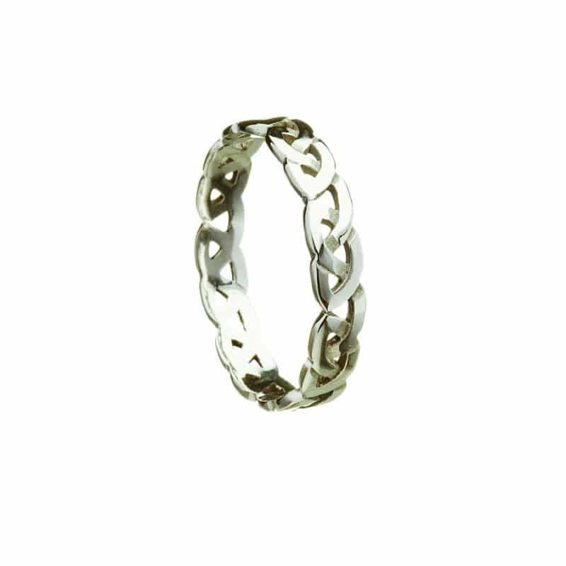 Open Celtic Knot Wedding Band - Sterling Silver (3 Options)