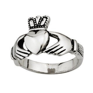 Stainless Steel Gents Claddagh Ring