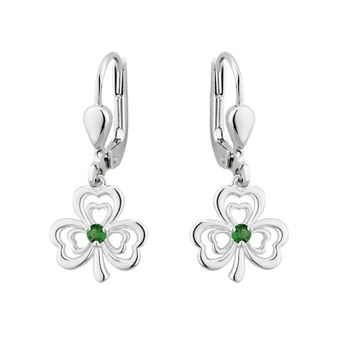 Shamrock Stone Set Earrings