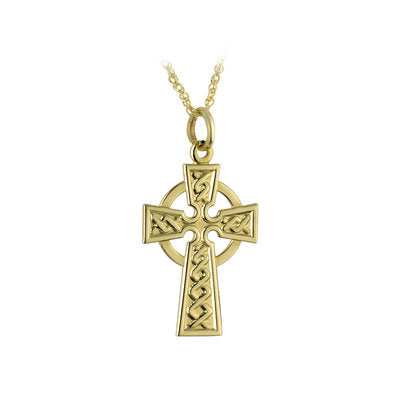 Small Celtic Cross Pendant - 10K