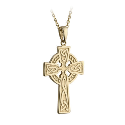 Double Sided Celtic Cross Pendant - 10K
