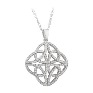 4-Sided Pave Trinity Knot Pendant