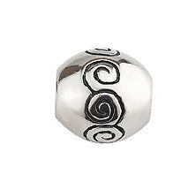 RETIRED Engraved Newgrange Spiral Bead